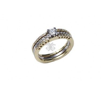 Δαχτυλίδι μονόπετρο λευκόχρυσο και χρυσό με διαμάντι #ring #whitegold #gold #diamond #woman #wedding #proposal #love