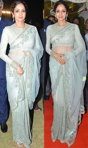 Sridevi in Sabyasachi Mukherjee saree