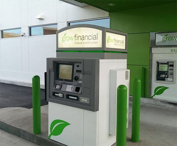 Corner Exhibition Stands Kitchen : Grow financial federal credit union atm topper