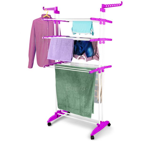Multi functional Cloth Drying Stand, Wall Mounted Clothes Dryer