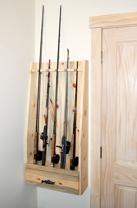 Fishing Rod Rack Built of Beetle Killed Pine by RmcCustomWoodworks, $200.00