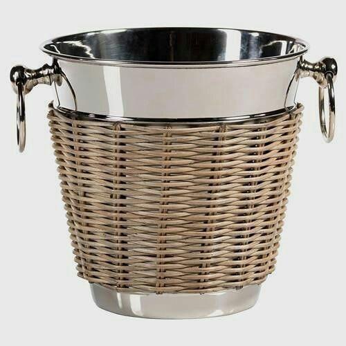 Cane woven on stainless steel bucket. . . @prilaga #drinks #wine #beer #beers #s…