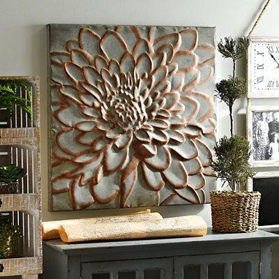 Copper Floral Metal Wall Plaque | Kirklands