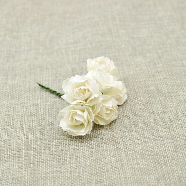 6pcs cheap Artificial flower Paper Gradient roses DIY bridal wreaths for Wedding bouquet Candy gift Box Decoration Scrapbooking