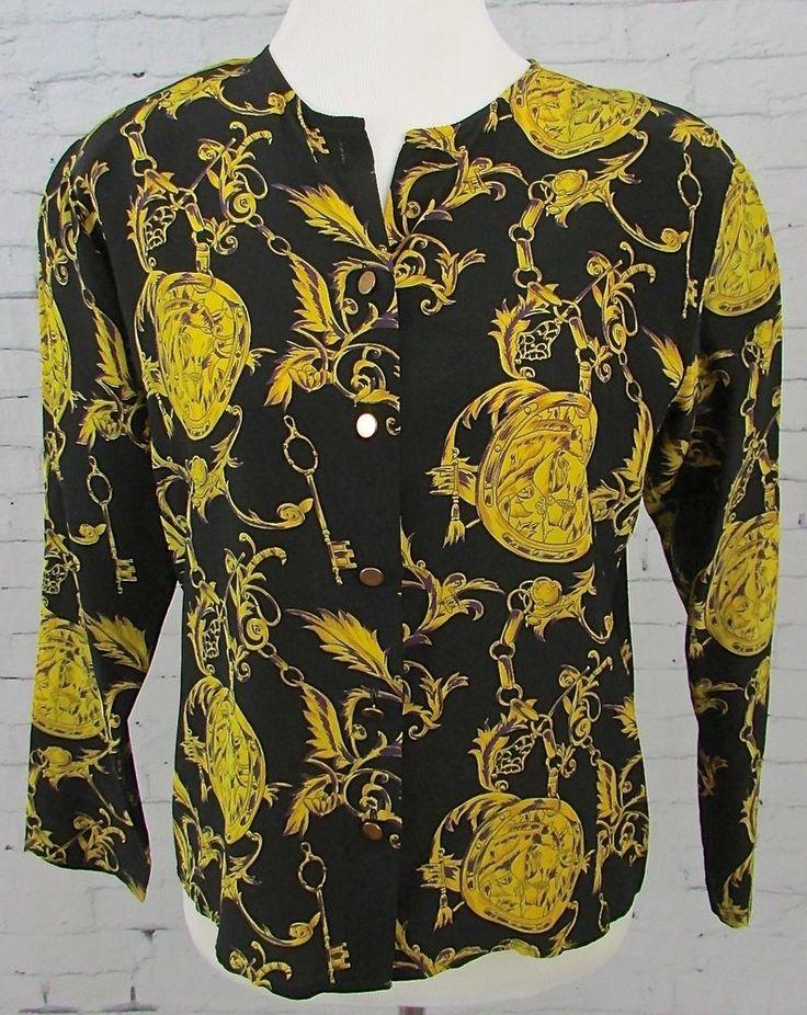 Vintage Marshall Fields Silk Equestrian Bridal Horse Riding Jacket Blazer Shirt  #MarshallFileds #Blazer