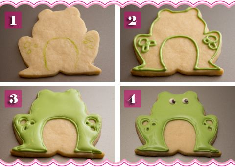 How To Make Frog Cookies.  My Grandma collected frogs, I always think of her when I see a frog.