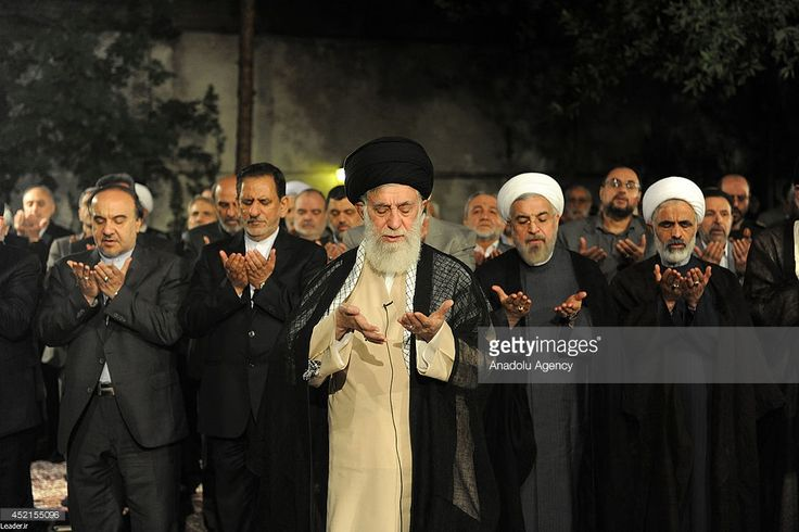 Supreme Leader of Iran Ali Khamenei meets with president of Iran Hassan Rouhani and cabinet...