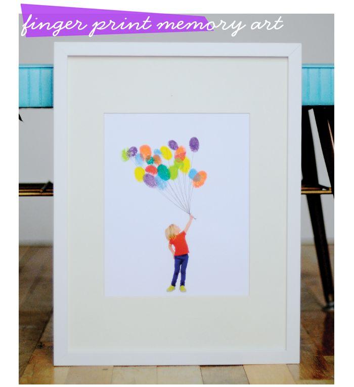 Finger print memory art! Wonderful gift idea for parents and grandparents! :-)