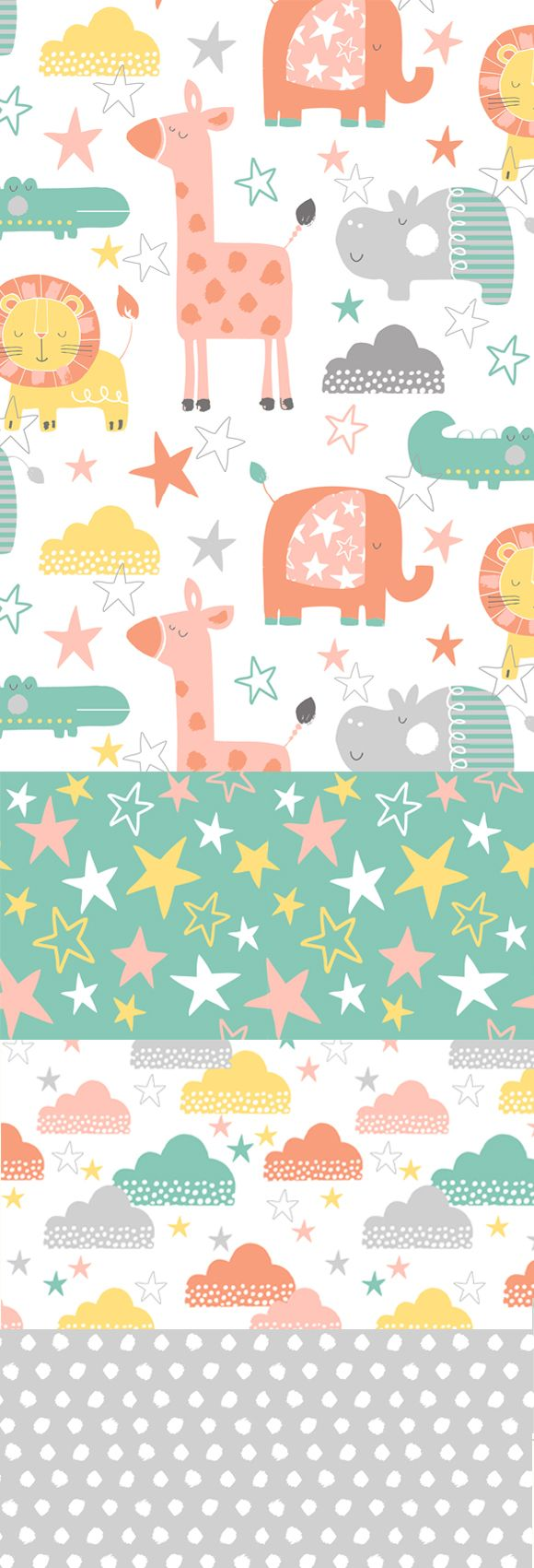 wendy kendall designs – freelance surface pattern designer » jungle stars