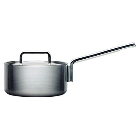 Have. The Iittala Tools 2,0 L saucepan with lid by Björn Dahlström (1998). For the little things. Tiny footprint, only 18 cm base, same as the 2,0 L casserole. Actually don't use this pretty much at all for sauces, because of the more suitable sauteuse.