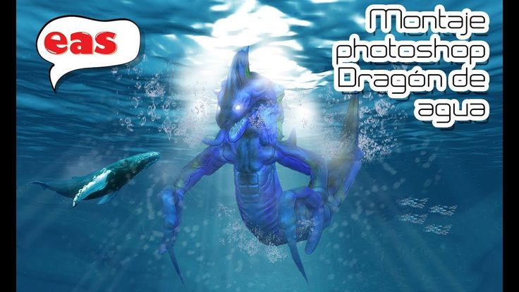 Tutorial #01 montaje photoshop Dragón de agua