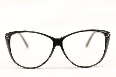 Cat Eye Nerd Brille 50er Jahre Übergroß Retro Rockabilly Strass schwarz 275 in Kleidung & Accessoires, Damen-Accessoires, Sonnenbrillen & Brillen   eBay