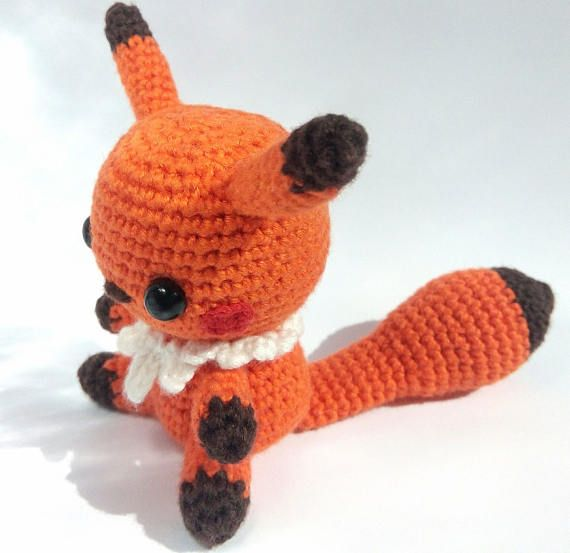 Crochet Pokemon. Squirrel amigurumi. Toy. Gift. Souvenir. Orange. Brown  The Crochet Pokemon Squirrel or Fox amigurumi (some say that this is a fox) will become a wonderful gift for both the child and the adult.  The size of the toy is 3x2,5 inches (about 8x7 cm).  The toy is made of hypoallergenic materials - Baby Cotton ( 60% Cotton + 40% Polyacril), inner stuffing — holofayber.  The toy is made in a non-smoking room.  The toy is made with love.