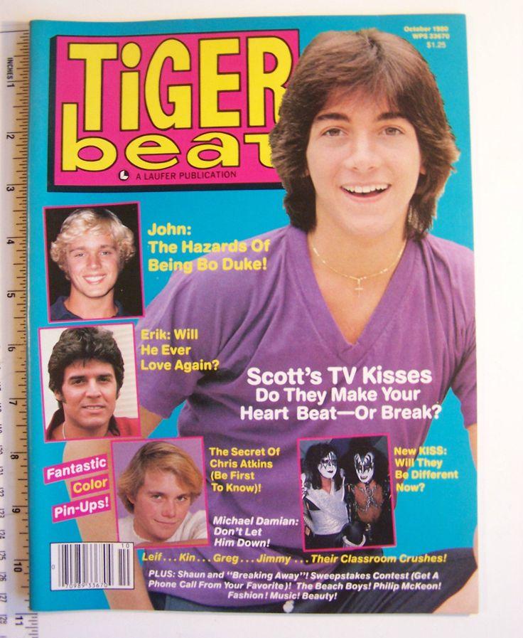 Vintage Tiger Beat Magazine October 1980