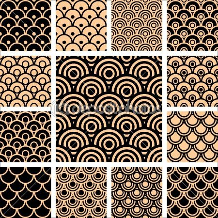 Seamless geometric patterns set. by Marina Glebova - Vektorgrafik: Cool Patterns To Drawings, Design Sets, Inspiration, Circles Shap Elements, Geometric Design, Circleshap Elements, Zentangle Circles Patterns, Geometric Patterns Design, Seamless Geometric