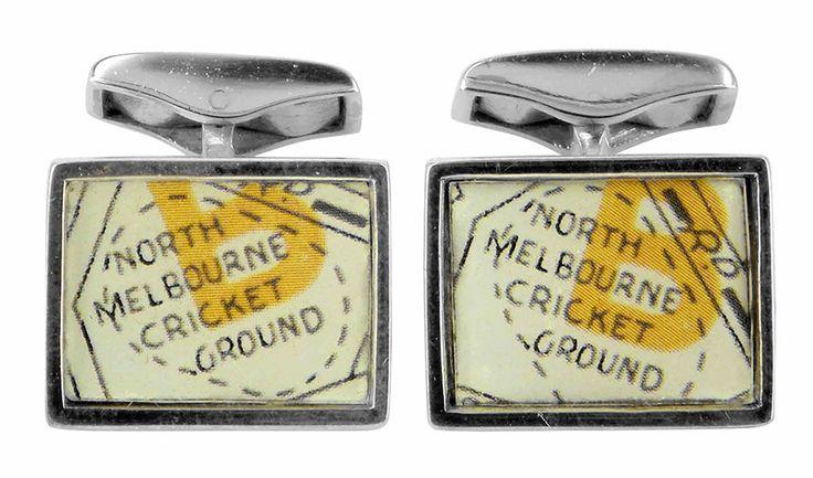 North Melbourne cricket ground vintage street directory cufflink