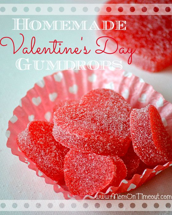 Valentine's Day Homemade Gumdrops | MomOnTimeout.com - Easy to make and yummy to eat!