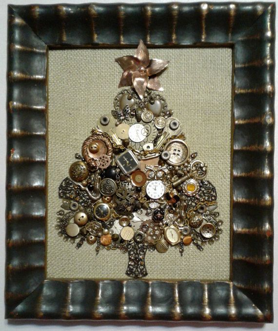 Steampunk Jewelry Christmas Tree STUNNING by SparkleBlossomGoods