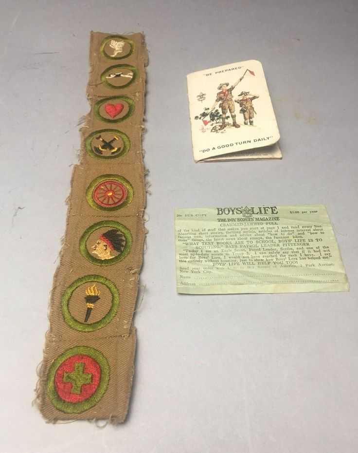 Boy Scouts Of America BSA Merit Badge Magazine Membership Registration 1920's  | eBay