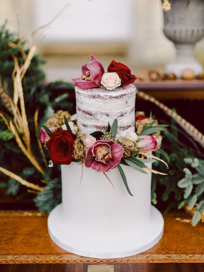 20 Stunning Semi-naked Wedding Cakes | SouthBound Bride | Credit: Chris Scuffins/The Flower Girls/Made by Marie Green via Rock My Wedding