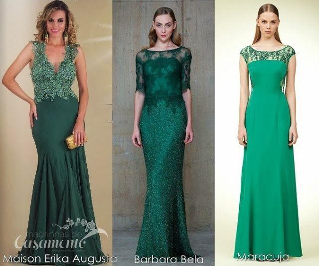 Madrinhas de casamento: Vestidos verdes para madrinhas e formandas