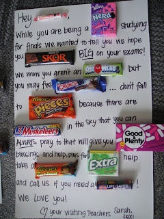 THE DAINTY DAISY NOOK: Candy Bar Messages   Candy letters ...