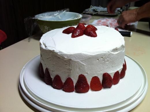 Strawberry Whipped Cream Cake Recipe - CHOW