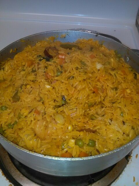 Haitian vegetable yellow rice
