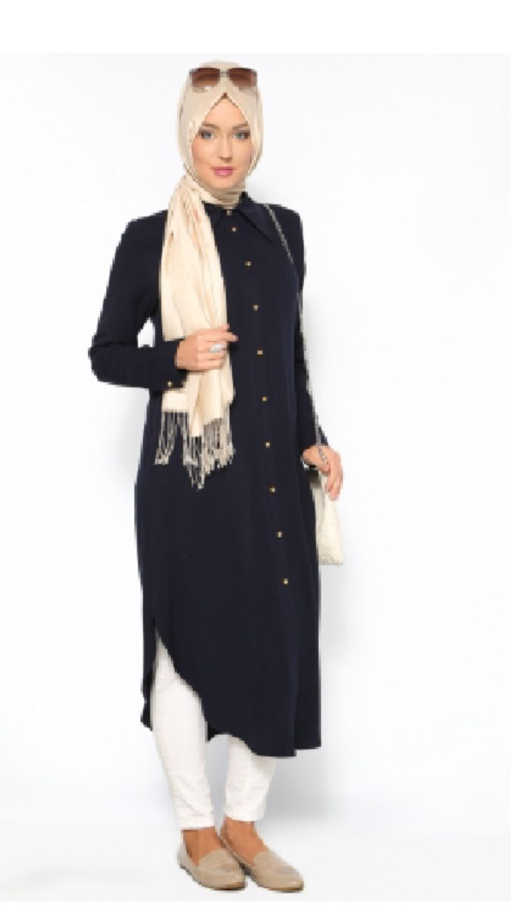 - Turkish Tunic Long - Imported from Turkey - Sizes: 38, 40, 42, 44, 46. - Color: Navy Blue - Material: 100% Viscose - Tunic is very light and comfortable. - Works for the workplace. - Stay Cool in th