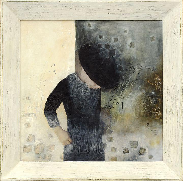 mixed media/canvas INtrospection series ( Hana) 50/50 cm
