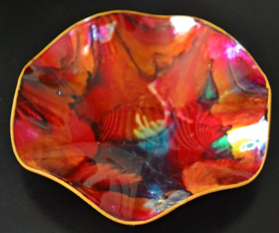 Abstract Art Decorative Plate Bowl Home Decor by Collectitorium