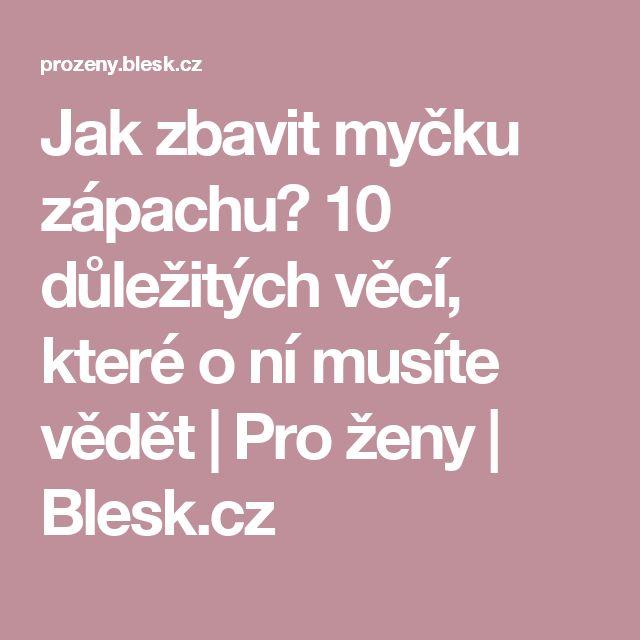 Jak zbavit myčku zápachu? 10 důležitých věcí, které o ní musíte vědět   Pro ženy   Blesk.cz