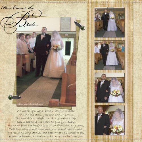 Here Come the Bride scrapbook ideas | Scrapbook-Bytes | Digital Scrapbooking Forum