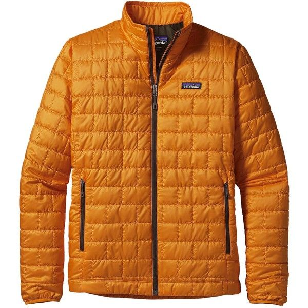 Patagonia Men's Nano Puff Jacket (4,060 MXN) ❤ liked on Polyvore featuring men's fashion, men's clothing, men's outerwear, men's jackets, sporty orange, mens water resistant jacket, mens puffer jacket, mens windproof jacket, mens light weight jackets and mens lightweight jacket