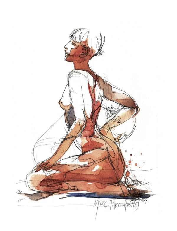 Tarosan Watercolor Figure Drawings
