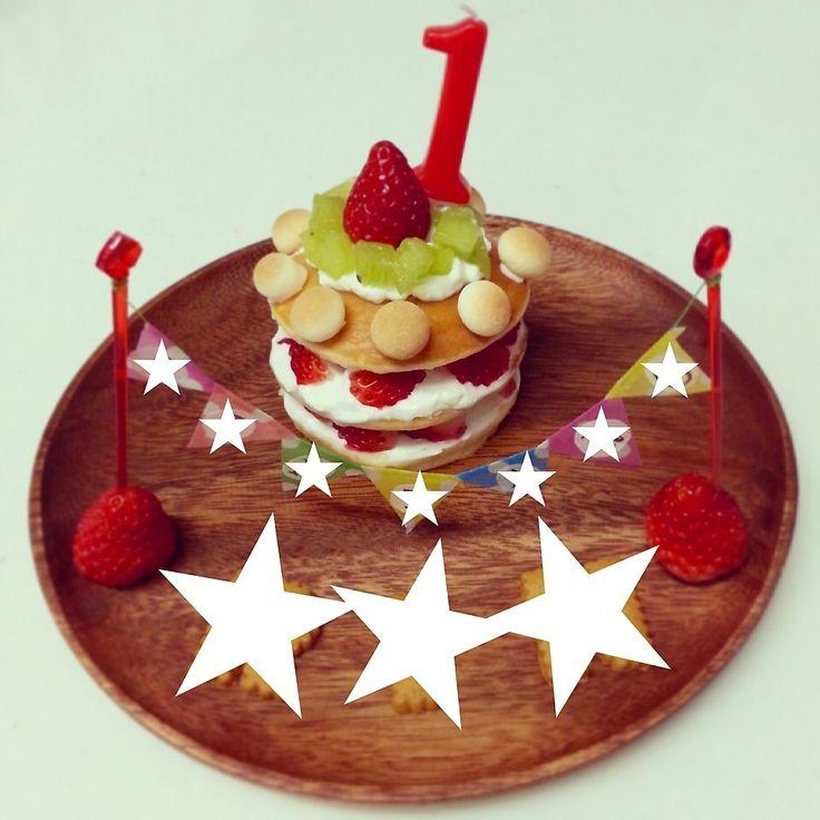 息子1歳の誕生日ケーキ♡                                                                                                                                                                                 More