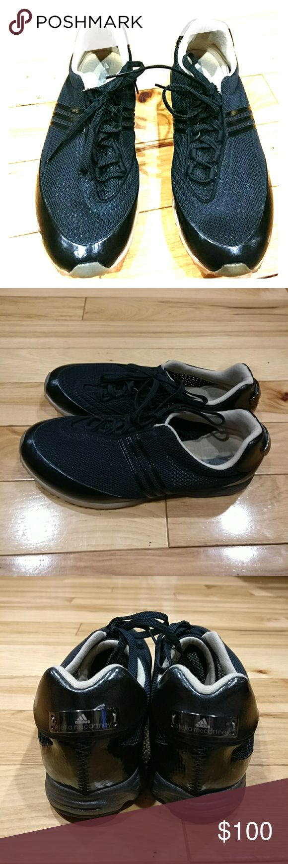 Stella McCarthy Adidas Adiprene torsion trainer 8 Stella McCartney Adidas Adiprene torsion trainer size 8 black color. they are in excellent condition. I'm selling them at a great price so get them today yeah! Adidas by Stella McCartney Shoes