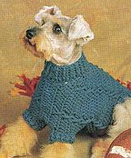 Free Crochet Pattern cabled dog sweater                              …