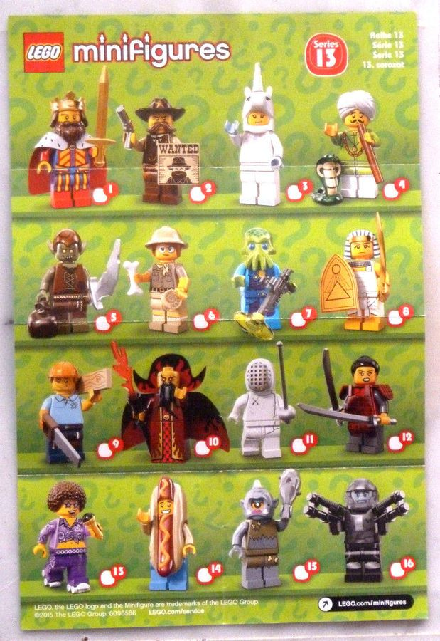 71004 NEUF et FERMÉ lego CHOOSE your MINIFIGURES série THE LEGO MOVIE réf