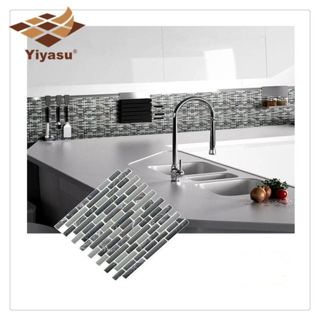 Self Adhesive Mosaic Tile Wall Decal Sticker Diy Kitchen Bathroom Home Decor Vinyl K Review Home Decor Self Adhesive Wall Tiles Decor
