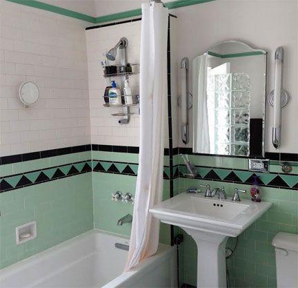 mint bathroom                                                                                                                                                                                 More