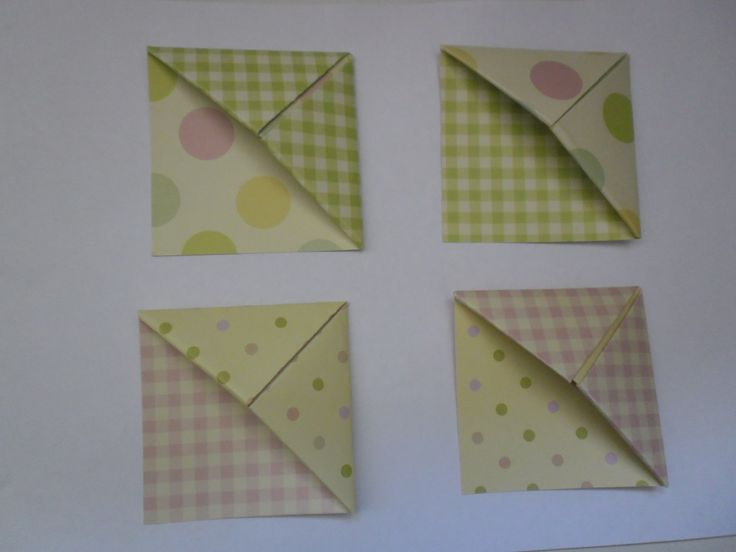 origami book/page markers