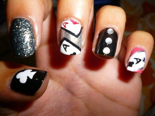 Poker nail decals
