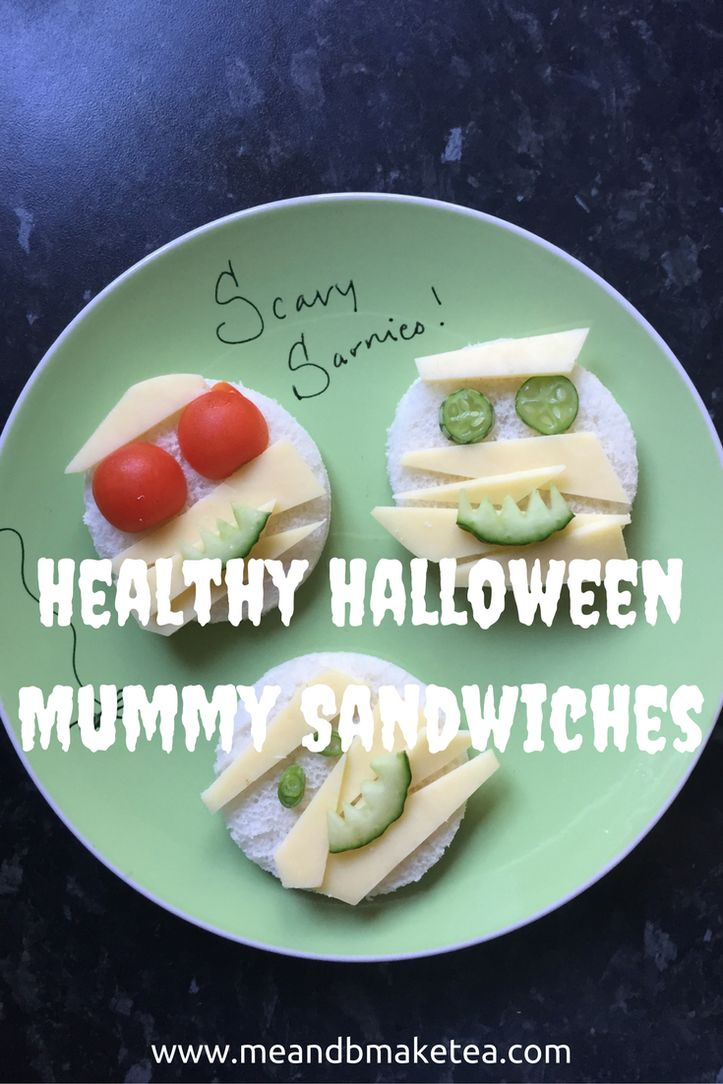 Want to make some fun sandwiches for kids this fall? Take a look at these healthy Halloween Mummy sandwiches for ideas for the party season! Perfect for picky kids!