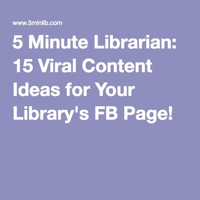 159 best high school library ideas images on pinterest bookshelf 5 minute librarian 15 viral content ideas for your librarys fb page fandeluxe Gallery