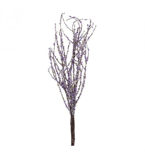 BRANCH BUNDLE W_PURPLE FLOWERS H-58