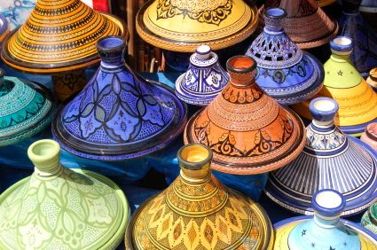 Morocco...Id pick out a beautiful tagine to bring to our new home! #kiwibemine