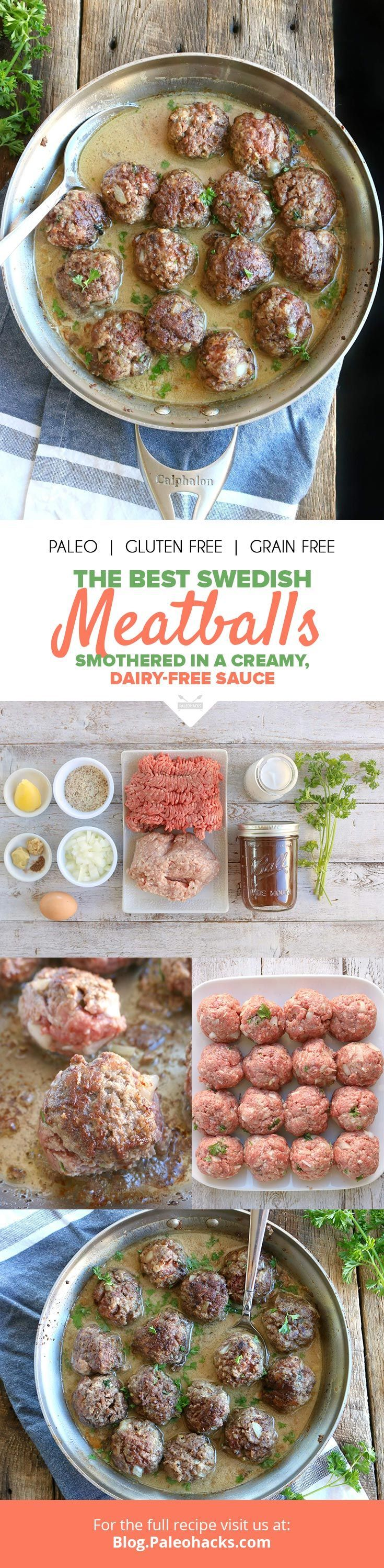 The best Swedish meatballs with non dairy sauce