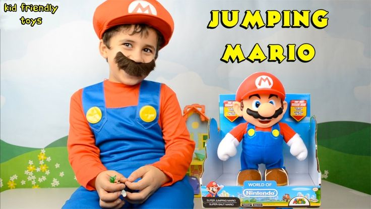 World of Nintendo - Super Jumping Mario Toy Review - Kid Friendly Toys