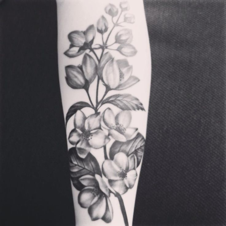 My jasmine flower tattoo!